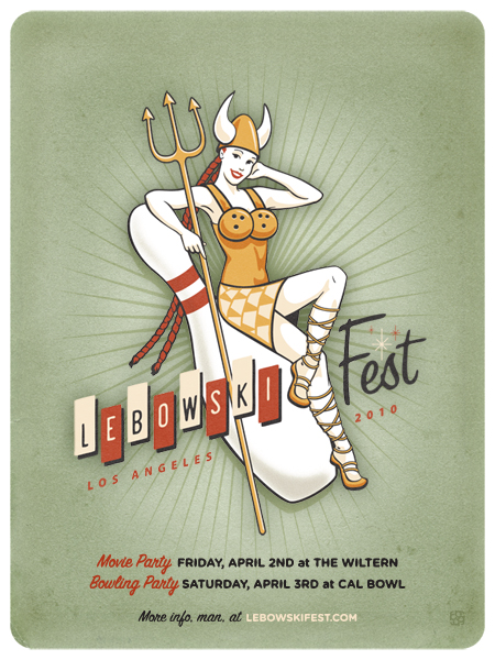 lebowski fest poster