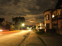 Barre, VT ( estatik ) Tags: street longexposure light night vermont trails nocturne vt barre
