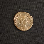 "<b>384 Obverse</b><br/> <a href=""http://en.wikipedia.org/wiki/Theodosius_I"" rel=""nofollow""><u><b>Theodosius I</b></u></a> <i>Reign: AD378 - 395</i> Theodosius was appointed by Gratin to replace Valens as ruler of the Eastern Roman Empire. After the death of Valentinian II in the West, Theodosius reunited the western and eastern parts of the Roman Empire, and was the last person to rule both of them. He was also a supporter of <a href=""http://en.wikipedia.org/wiki/Nicene_Creed"" rel=""nofollow""><u>Nicean Christianity</u></a>, making it the state religion during his rule. After Gratin was killed, Theodosius appointed his son Arcadius as co-ruler in the east.  Donated by Dr. Orlando ""Pip"" Qualley<a href=""http://farm5.static.flickr.com/4063/4352108250_65e29cbbe0_o.jpg"" title=""High res"">∝</a>"