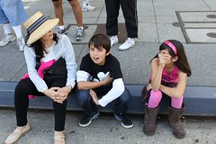 My Family Taking a Break at LA Street Food Fest