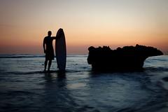 The Surfer (Dan. D.) Tags: shadow sea portrait seascape water contrast landscape surf surfer silouette