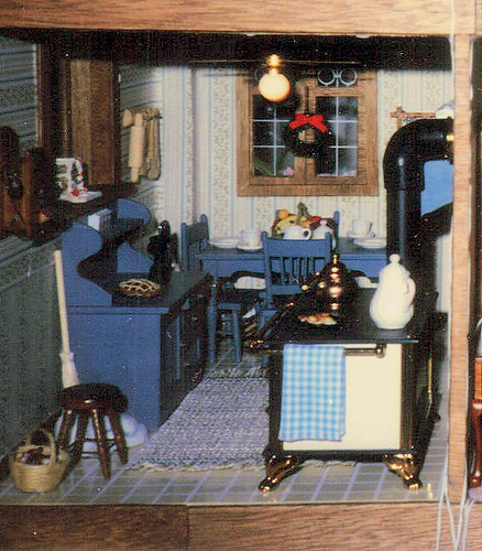 Kitchen in My Parents' Dollhouse, 1985