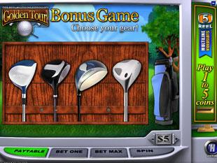 free Golden Tour gamble bonus game