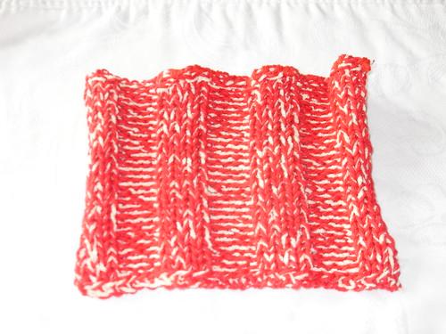 Ribbed knit square