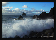 power9 (thorgerdur mattia) Tags: ocean blue winter white coast iceland waves power shore february powerful reykjanes febrar breakingwaves orgerur powerfulwaves thorgerdurmattia orgerurmatta naturalpowers thorgerdur