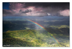 Slice of Heaven ([ Kane ]) Tags: trees light sun mist water clouds photography rainbow australia naturalbridge qld kane due goldcoast mountwarning hinterland gledhill sigma1020 50d numinbah kanegledhill mountcougal kanegledhillphotography