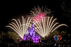 Wish Upon a Star (Don Sullivan) Tags: world travel castle fireworks magic kingdom disney fisheye wishes cinderella waltdisneyworld walt magickingdom cinderellacastle reedycreek rcid ef15mmf28fisheye disneypics disneyphoto canoneos7d