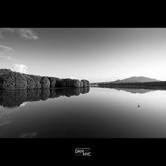 Tranquility (d.a.n.n.y.c) Tags: sunset blackandwhite reflection mono restaurant peace tranquility calm mangrove swamp malaysia seafood sabah bnw kota kinabalu tuaran gayang mywinners nikond90 dannychu tokina1116f28