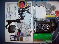 whats in my bag 22.02.10 (damin_kyre) Tags: camera love apple analog bag hardware lomo geek tech geeks crap lubitel2 backpack lubitel linux clutter picnik logitech lomoish geeking geektools
