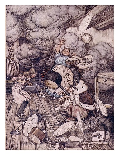 005-Pig and pepper-Alice's adventures in Wonderland-1907- Arthur Rackham