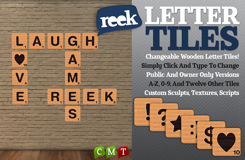 Reek - Letter Tiles Ad