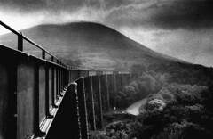 Abandoned Viaduct, Glensk Viaduct, Co Kerry, Ireland (2c..) Tags: ireland sky bw mountains tree abandoned film landscape bridges kerry best railways 2c nikormat irishrailways abandonedrailways irishtrains 72dpipreview
