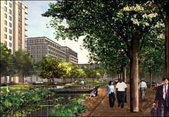 vision of Canal Blocks Park, Capital Riverfront SE