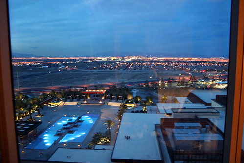 M Resort Room - View, Nighttime Blur