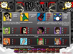 free Rock On slot mini symbol
