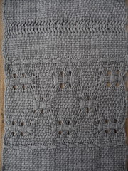 Karelian Lace (with weft float border), 1/1 Mexican Lace