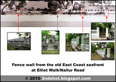 Fence wall from the old East Coast seafront at Elliot Walk-Nallur Road