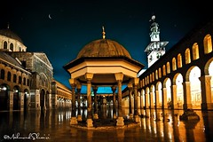 Umayyad Grand Mosque (MahmoudShuairi) Tags: old light night canon lite angle mark wide grand mosque ii syria 5d monuments damascus mkii  mahmoud significant umayyad    shuairi