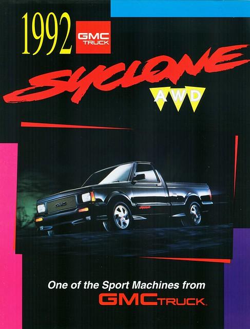 1992 brochure gmc syclone