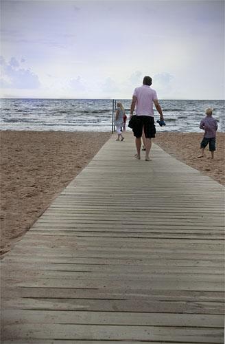 promenad på stranden