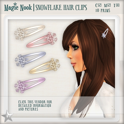 [MAGIC NOOK] Snowflake Hair Clips