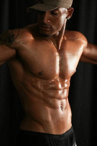 sexy black male model hot shirtless muscle top hunk