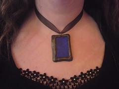 Ultramarine swirled pendant