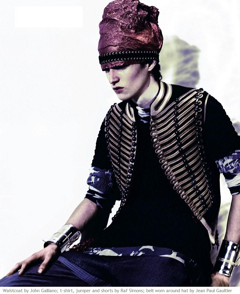 Adrian Bosch photographed by Miguel Reveriego and styled by Bryan McMahon for the March 2008 issue of Dazed & Confused