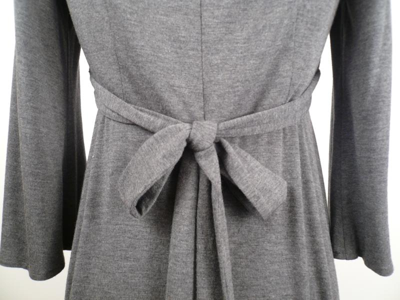 Grey_Knit_Pleated_Empire_Waist_Dress_Back_Detail