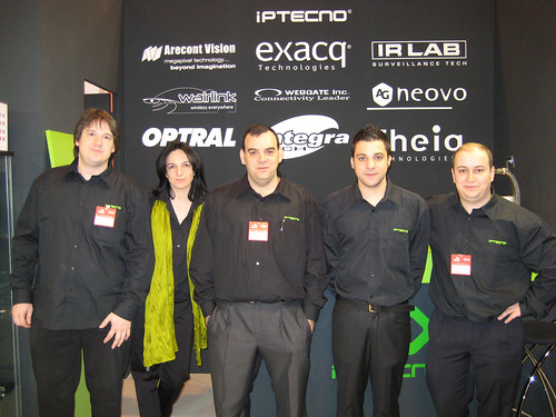 In the IPtecno booth at SICUR 2010 1