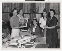 Women working on the Mt. Sinai Book Fair.