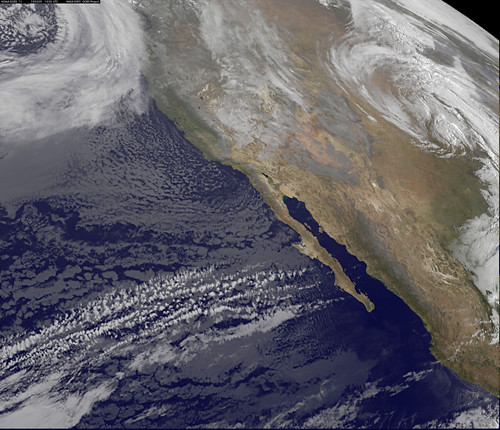 GOES US West Coast View March 9, 2010