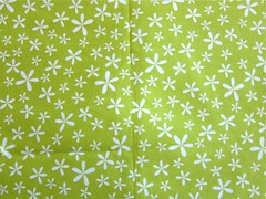 Pistachio green floral quilting cotton