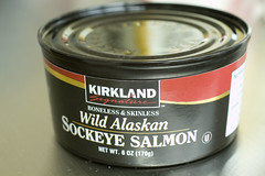 can of wild sockeye salmon