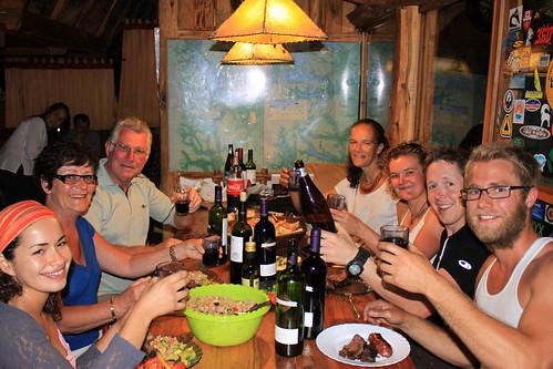 Last night's asado in Bariloche