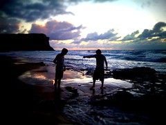iPhone photo - 145/365 - fishing for fire (alexkess) Tags: cameraphone park sea reflection beach apple water fire march photo rocks flickr day phone pacific sydney royal australia national nsw mobilephone 365 shire juggling tobias sutherland 13th camerabag mobilephonecamera 3gs 2010 iphone garie tiltshift iphone365 iphoneography iphone3gs tiltshiftgen huenlich