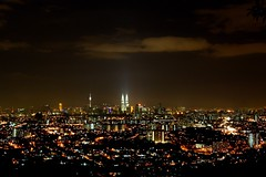City of Million Lights (stardex) Tags: city night canon lights cityscape sigma malaysia twintowers kualalumpur kltower stardex