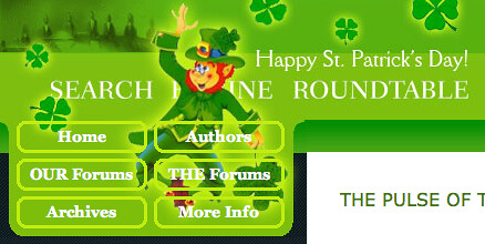 St. Patrick's Day at Search Engine Roundtable