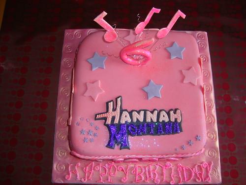 PINK Hannah Montana Cake