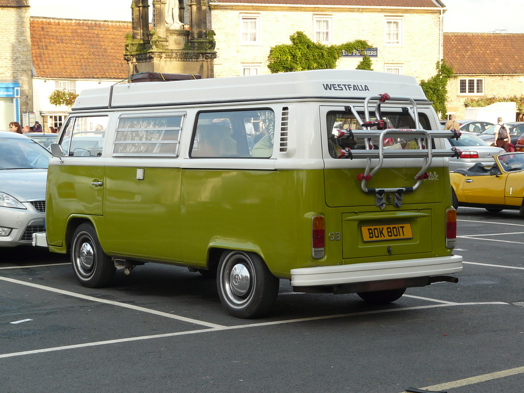 VW Camper in green and white