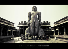 Bahubali. (SiddharthDasari) Tags: world india tourism statue stone canon temple stitch god south faith religion perspective belief images carving ne explore sto tall hassan karnataka jain pilgrimage largest panaroma panaromic lightroom shravanbelagola bahubali importance jainism shravanabelagola gomateswara intricacy bhagavan incredibleindia canonrebelxs canoneos1000d siddharthdasari