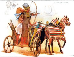 egyptian pharaoh (cool-art) Tags: africa horses ancient war king military lion egypt armor pharaoh warriors arrow archer chariot