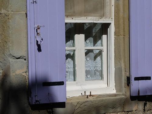 Lavender shutters