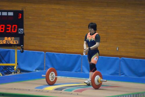 安藤美希子選手 スナッチ83kg