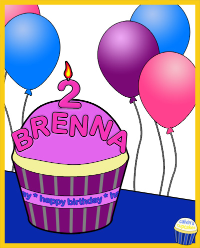 Brenna's 2nd Birthday Cupcake