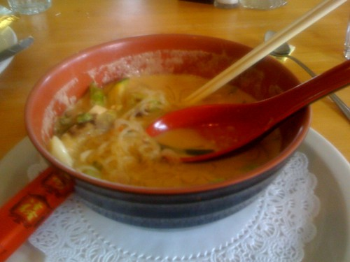 Spicy Thai soup in Mendocino