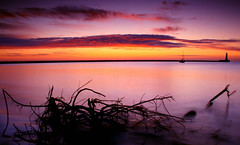roker beach (robert_mcconville) Tags: beach sunrise archive sunderland roker sailingboat
