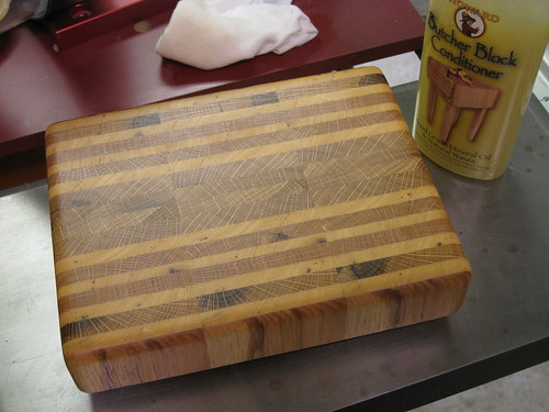 finished end grain cutting board