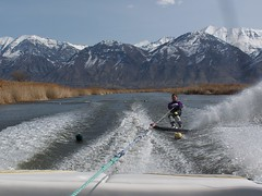 Carly Clifton water skiing Utah Lake