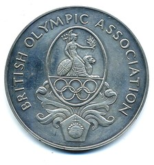 1976 British Olympic Association medal (obverse)